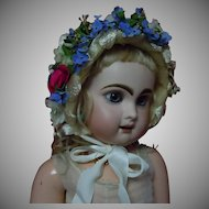"""Wonderful soft straw Hat for 23"""" to 25"""" antique doll"""