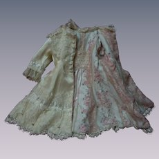 Gorgeous silk Dress Coat for french bebe Jumeau Steiner doll
