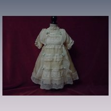 Exquisite Antique pure silk Dress Bonnet and full Slip
