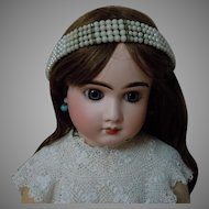Lovely Vintage Fantasy Pearls Headband Tiara for huge doll