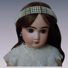 Lovely Vintage Fantasy Pearls Headband Tiara for huge doll