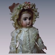 Exquisite  Dress and Hat for french bebe Jumeau Steiner Eden Bru doll