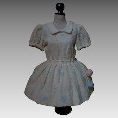 All Original Mid Century Woolen Dress for Huge Doll