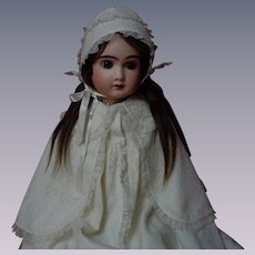 All Original Mid Century Lace Cape and Bonnet for huge doll