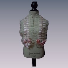 """Antique Wool Capelet for 23"""" and highest French Bebe doll"""