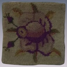 Lovely square Hooked Rug for Dollhouse Decor