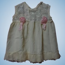 Antique Silk Lace Dress and Taffeta Slip for huge doll
