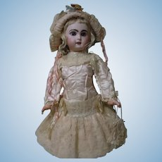 Exquisite Couturier Dress Bonnet and Purse for French Bebe Jumeau Steiner Eden doll