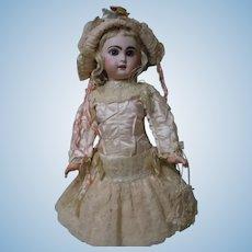 Exquisite Rose Dress Bonnet Purse for French Bebe Jumeau Steiner Eden doll