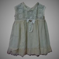 Lovely Early Century Silk Lace Slip for huge doll