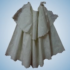 Beautiful Pure Cotton Embroidery Eyelets Mid Century Cape