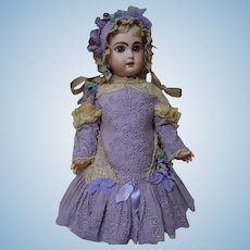 Gorgeous Soutache Embroidery Dress and Bonnet for french Bebe Jumeau Steiner Eden doll