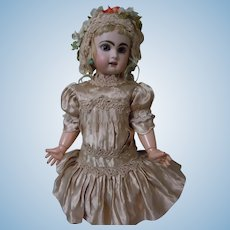 Beautiful Dress and Bonnet for Antique German or French Bebe Doll