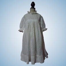 All Original Antique Dotted Muslin Dress for German French Bisque Huge doll