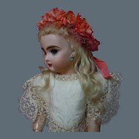 Beautiful Floral Millinery Lace Tiara Crown Headdress for cabinet sized antique doll