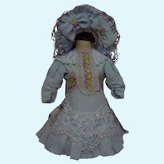 Beautiful Dress Hat for French Bebe Jumeau Steiner Eden antique doll