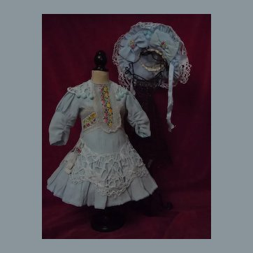 Wonderful Dress Hat for French Bebe Jumeau Steiner Eden antique doll