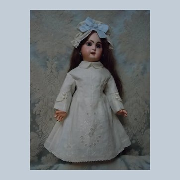 Exquisite  Ayrshire Embroidery Batiste Set Dress Cap for antique doll