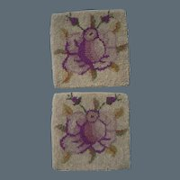 Set square Hooked Rugs for Dollhouse Decor