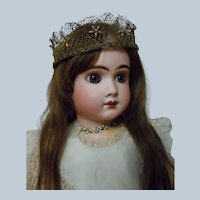 Exquisite Couture Crown Beaded Stars for huge french bebe doll