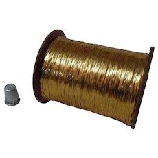 Wonderful Vintage Spool Gold Metallic Thread