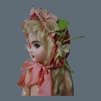 Lovely Doll Hat for cabinet sized antique French Bebe doll