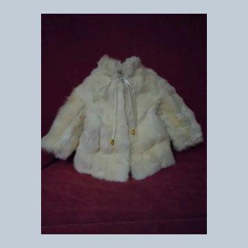 Vintage genuine Rabbit Fur Coat for french Bebe Jumeau Steiner Bru Eden antique doll