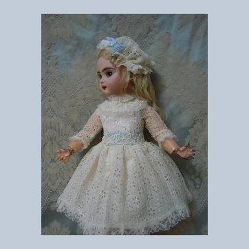 Lovely Lace Dress Cap for cabinet sized doll