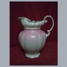 Antique Alfred Meakin  England Gilded Pink Rose Porcelain Wash Pitcher