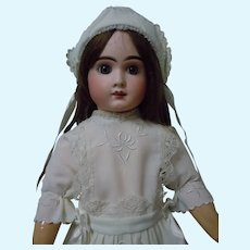 Exquisite Early Century Dress Bonnet for french bebe Jumeau Steiner Eden doll