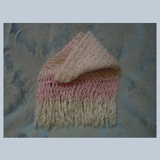 Exquisite Shawl wool pure silk Fringe for antique doll Cradle Carriage Decor