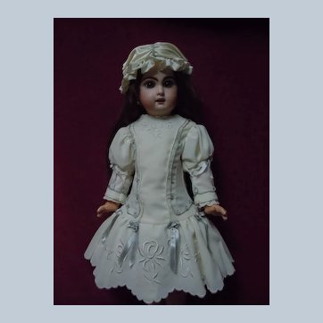 Exquisite Dress and Cap for french bebe Jumeau Steiner Eden Bru doll