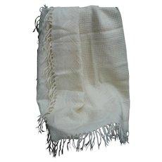 Rare Antique Handwoven Wool Loom weaving Blanket