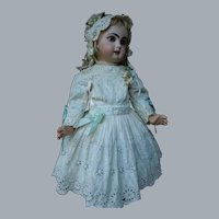 Gorgeous Dress Hat Antique Ayrshire Embroidery for French Bebe Jumeau Steiner Eden Bru doll