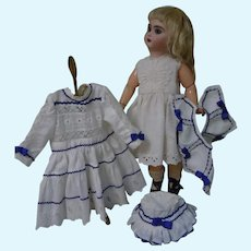 Lovely Marine style Dress Cap Slip Capelet for French Bebe antique doll