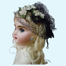 "Beautiful Headdress for 17"" to 19"" antique French Bebe doll"