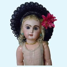 Gorgeous Hat for antique french Bebe Jumeau doll