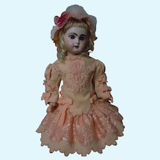 Gorgeous Embroidery Woolen Dress Cap for french Bebe Jumeau Steiner Eden doll