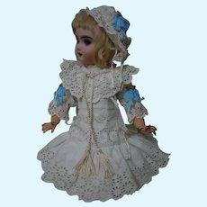 "Exquisite Dress  Bonnet Capelet for 16"" Antique French Bebe Jumeau Steiner Eden Bru doll"