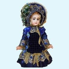 Gorgeous Costume Dress Hat for antique french Bebe Jumeau Steiner Eden Bru doll