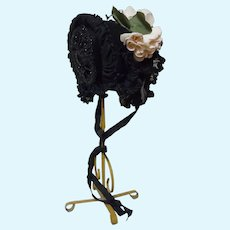 """Gorgeous Hat for 23"""" to 27"""" french Bebe Jumeau Antique Doll"""
