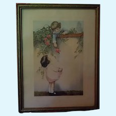 Vintage Framed Print Childhood Sweethearts by Henry F. Wireman