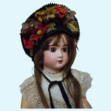 Gorgeous Hat for  French Bebe Jumeau Antique Doll