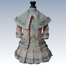 """Gorgeous  Couturier Costume Dress Jacket Beret for 23"""" doll"""