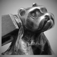 Vintage Sterling Silver Boxer Pit Bull Dog Charm Pendant