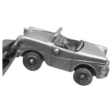 Vintage Wells Sterling Silver Moveable Convertible Car Charm Pendant