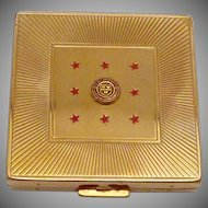 Vintage Gold Tone Majestic Compact Cornell University