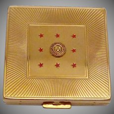 Vintage Gold Tone Majestic Compact Cornell University