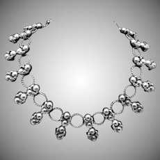 Vintage Taxco Mexico Mexican 980 Silver Early 1930s Chunky Necklace