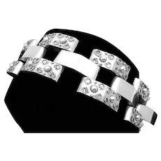 Vintage Taxco Mexican Sterling Silver Classic Ambriz Bracelet 99 Grams